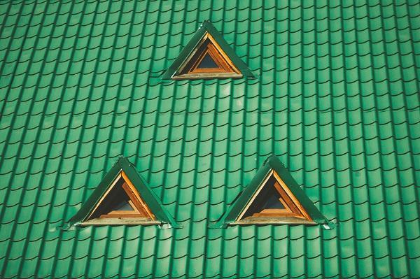grönt shingel